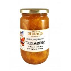 Marmellata Artigianale di Tre Agrumi: CItron - Arancia Dolce - Pompelmo - Maison Herbin