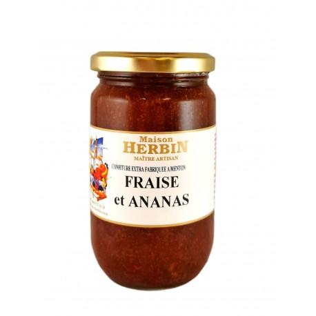 Fraise et Ananas -Confiture artisanale Maison Herbin à Menton