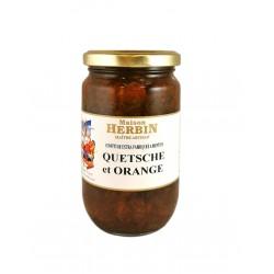 Confiture artisanale Quetsche - Orange - Maison Herbin