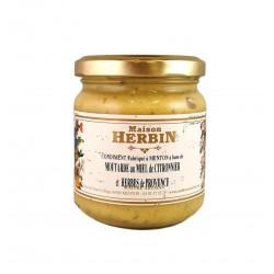 Moutarde au miel de citronnier et aux herbes de Provence - Maison Herbin