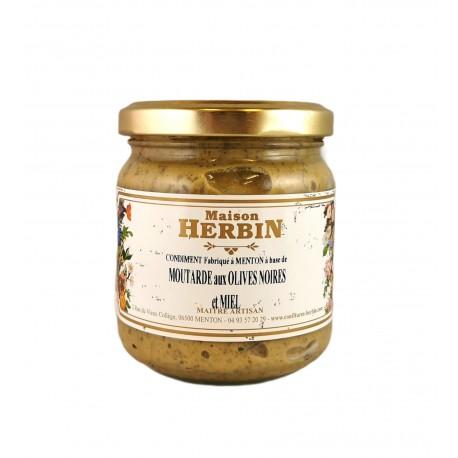Moutarde d'olives et miel de citronnier - maison herbin