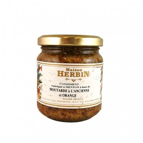 Moutarde à l'Ancienne et Orange - Maison Herbin