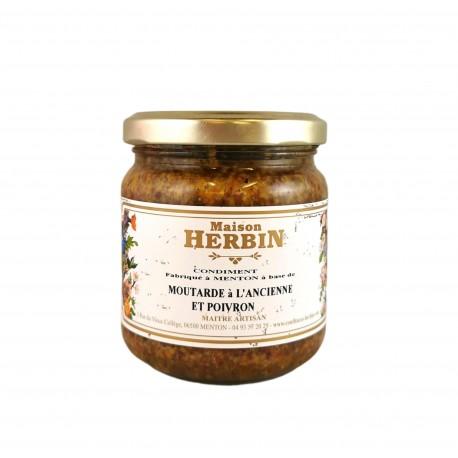 Moutarde à l'ancienne, brisures de Marron Glacés