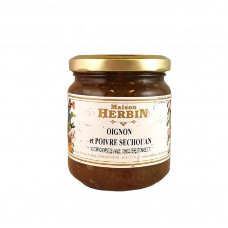 Confit d'oignon et poivre de Séchouan