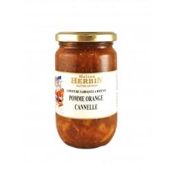 Confiture artisanale de Pomme Orange Cannelle - Maison Herbin